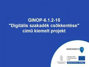 GINOP 6.1.2